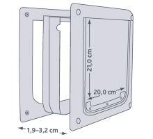 Priechodná dvierka pre psov XS-S dvojcestné 25 x 29 cm