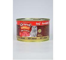GRAND konzerva Superpremium mačka hovädzie 405g