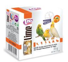 Lolopets LIME pomarančový minerálne kameň pre vtáky 40 g