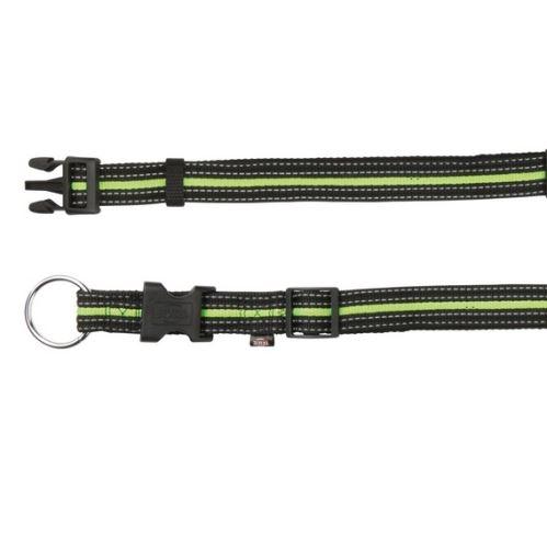 FUSION nylonový obojok M - L 35-55 cm / 20 mm - čierno-zelený