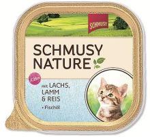 Schmusy Cat Nature Menu vanička Junior losos + jahňa 100g