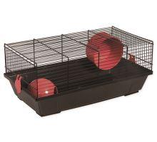 Klietka SMALL ANIMAL Viktor čierna s červenou výbavou 1ks