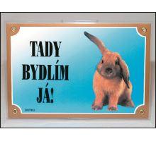 Tabuľka králik 1ks