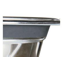 Nerez stojan + 2 misky so silikónovým krúžkom 900ml / 16cm