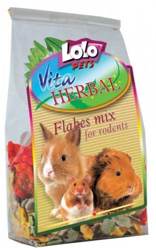 Lolopets VITA HERBAL mix vločiek pre hlodavce 150g