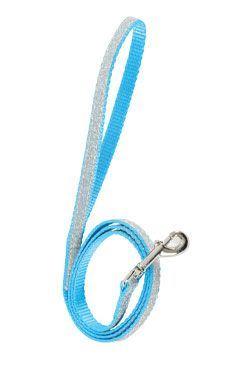 Vodítko mačka SHINY nylon modré 1m Zolux