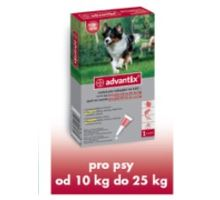 Advantix pre psy spot-on 10-25kg 1x2, 5 ml