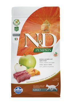 N & D GF Pumpkin CAT Venison & Apple 5kg