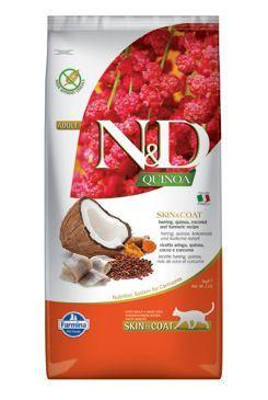 N & D GF Quinoa CAT Skin & Coat Herring & Coconut 5kg