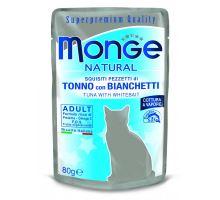 Monge Natural kapsička tuniak v želé so sledom pre mačky 80g
