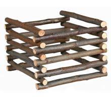 Natural Living - drevený prírodný stojan na seno 15x11x15cm
