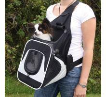 Nylonový batoh SAVINA klokanka 30x26x33cm čierno-šedý