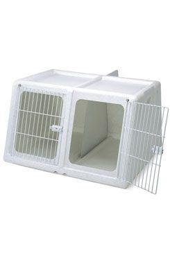 Prepravka IMAC pre dvoch psov plast šedá 96x86x58cm