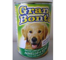 Gran Bonta konzerva s jahňacím mäsom pre psov 1230g