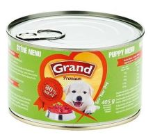 GRAND konz. šteňa Menu 405g  VÝPREDAJ