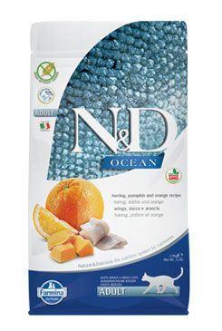N & D OCEAN CAT GF Adult Herring, Pumpkin & Orange 1,5kg