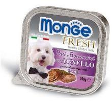MONGE FRESH - paštéta a kúsky s jahňacím 100 g pre psov