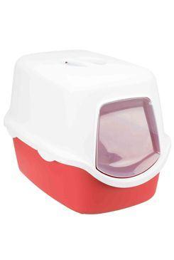 WC mačka kryté domček VICO 40x40x56 TR červená / biela