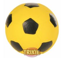 Latexová futbalová lopta - žltý 11 cm Trixie