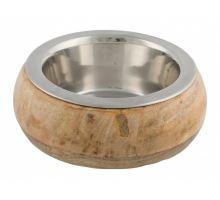 Nerezová miska v dřevěném opláštění 0,45 l/16 cm