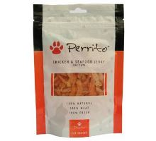 Perrito Chicken & Seafood jerky pre mačky 100g