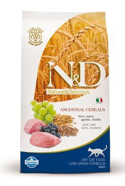N & D Low Grain CAT Adult Lamb & Blueberry 300g