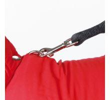 Červená vesta PALERMO s odopínacou kapucňou TRIXIE M 50 cm