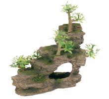 Skalné schodisko s rastlinami 19,5cm