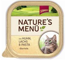 Schmusy Cat Nature Menu vanička kura + losos 100g