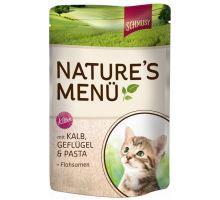 Schmusy Cat Nature Menu vrecko Junior Telec + hydina 100g