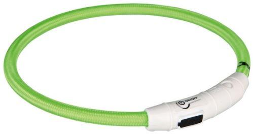 Svietiace krúžok USB na krk (zelená) M - L 45 cm