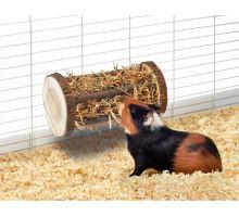 Karlie drevený valec na seno s lucernou pre hlodavce 24x3,5cm
