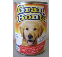 Gran Bonta konzerva s hovädzím mäsom pre psov 1230g