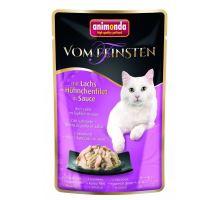 VF kapsička losos + kuřecí filet v jemné omáčce 50 g