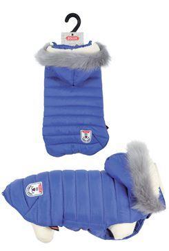 Oblek prešívaná bunda pre psov URBAN modrá 25cm Zolux