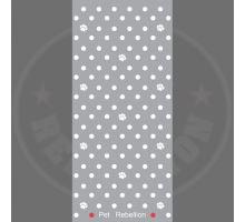 PET REBELLION- Běhoun, puntíkovaný šedý, 45 x 100cm