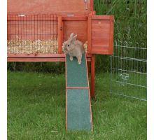 Drevená rampa k rampám, domčekom a králíkárnám 20 x 50 cm