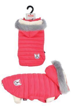 Oblek prešívaná bunda pre psov URBAN červená 25cm Zol