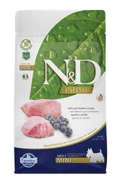 N & D PRIME DOG Adult Mini Lamb & Blueberry 800g