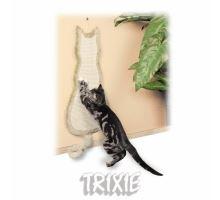 Škrabadlo závesné tvar mačka 35x69cm - béžové