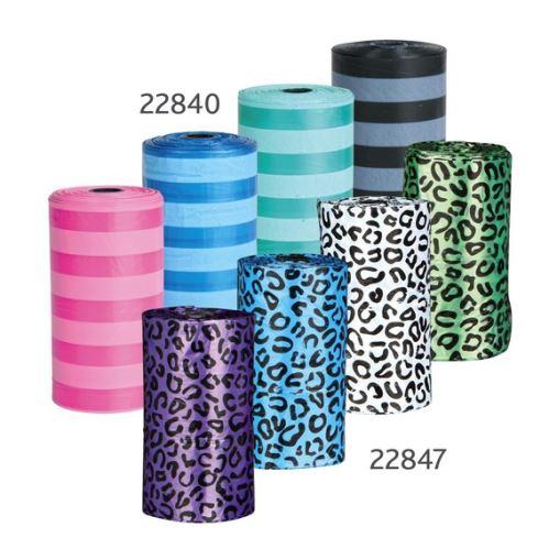 Náhradné sáčky na trus (4 role á 20 ks farebné vzor gepard)