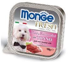 MONGE FRESH - paštéta a kúsky s tuniakom 100 g pre psov