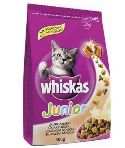 Whiskas Dry Junior s kuracím mäsom 300g