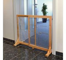 Posuvná bariéra do dverí pre psov a šteňatá 61-103x75x40 cm