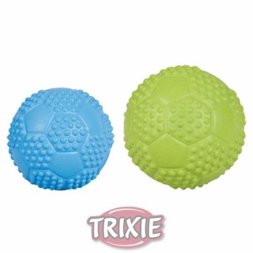 Športová lopta z tvrdej gumy so zvukom 7cm