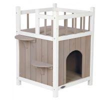 Natura mačacie domček s balkónom 45x65x45cm