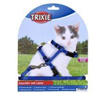 Nylonový postroj pre mačiatka jednofarebný 19-31cm/8mm TRIXIE