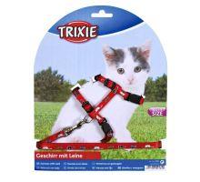 Nylonový postroj pre mačiatka - motív 21-34cm/8mm TRIXIE