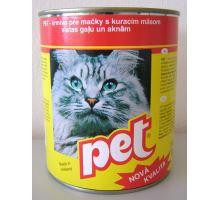 Pet Katza kocky s hydinovým mäsom pre mačky 855g