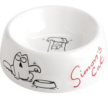 Flamingo Miska pre psov Simon 's Cat plastová biela 14,5cm